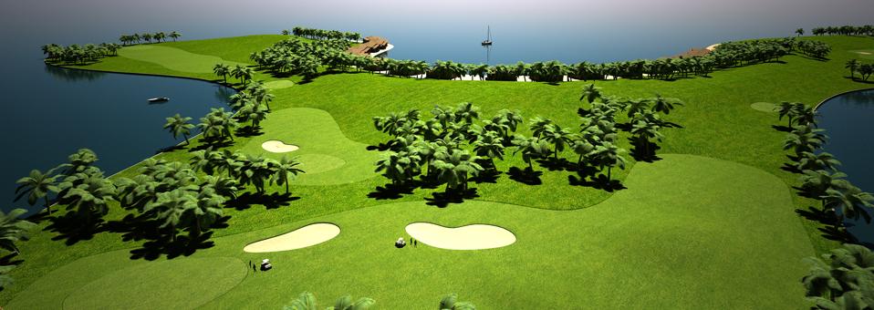Maldive's artificial golf course