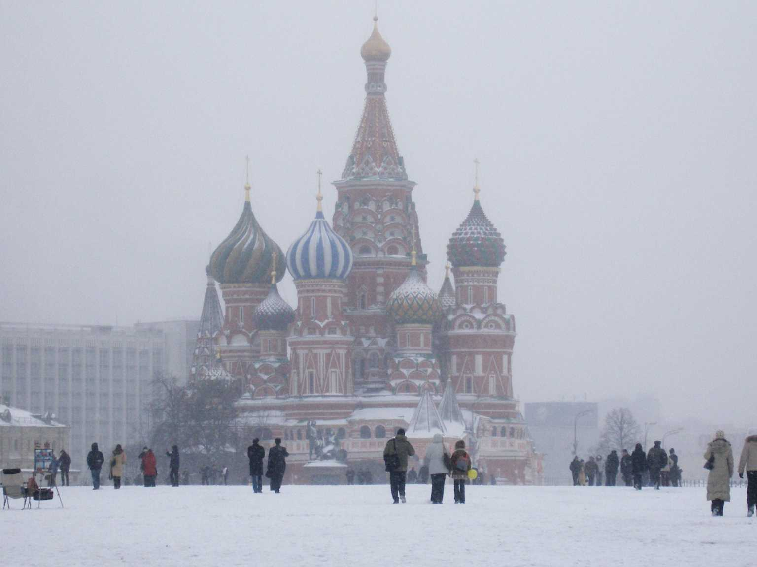 Visiting Moscow in the winter