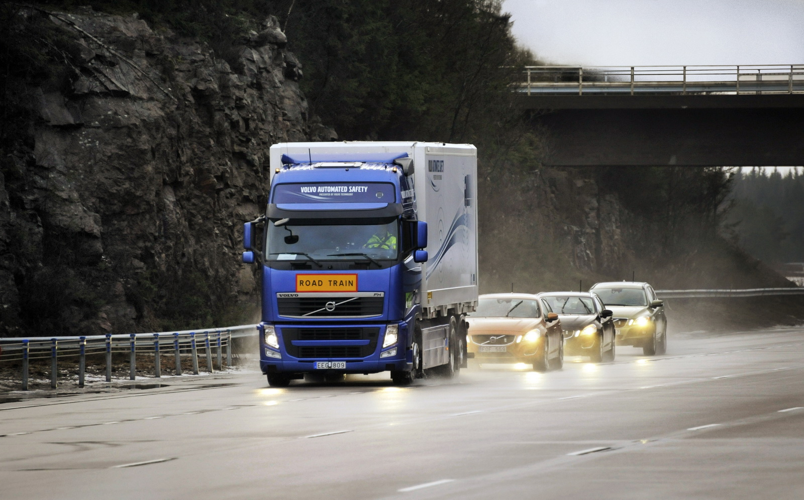 Volvo&#8217;s autonomous vehicle SARTRE project