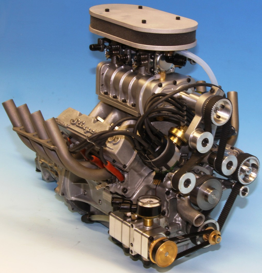 The world's smallest supercharged V-8 engine