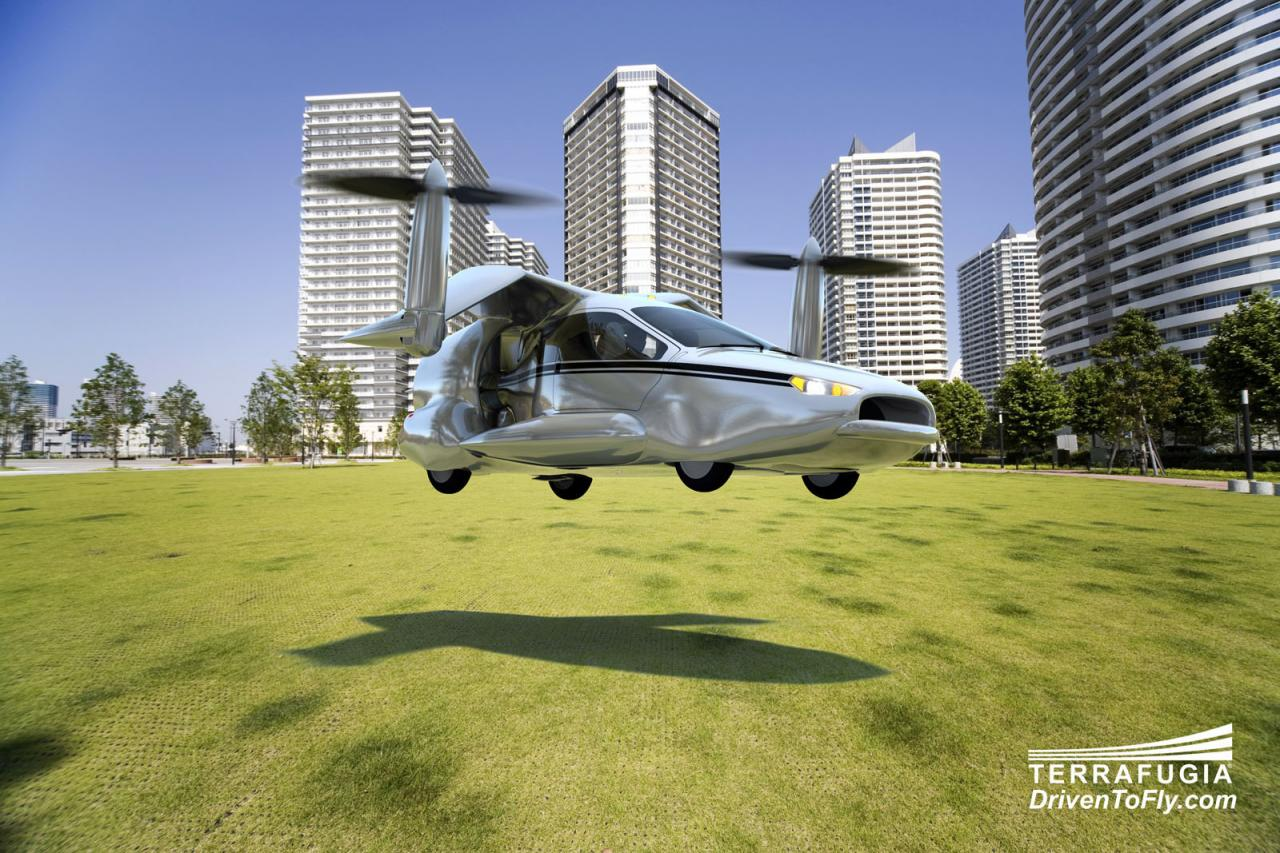 Plug-in hybrid flying car under development