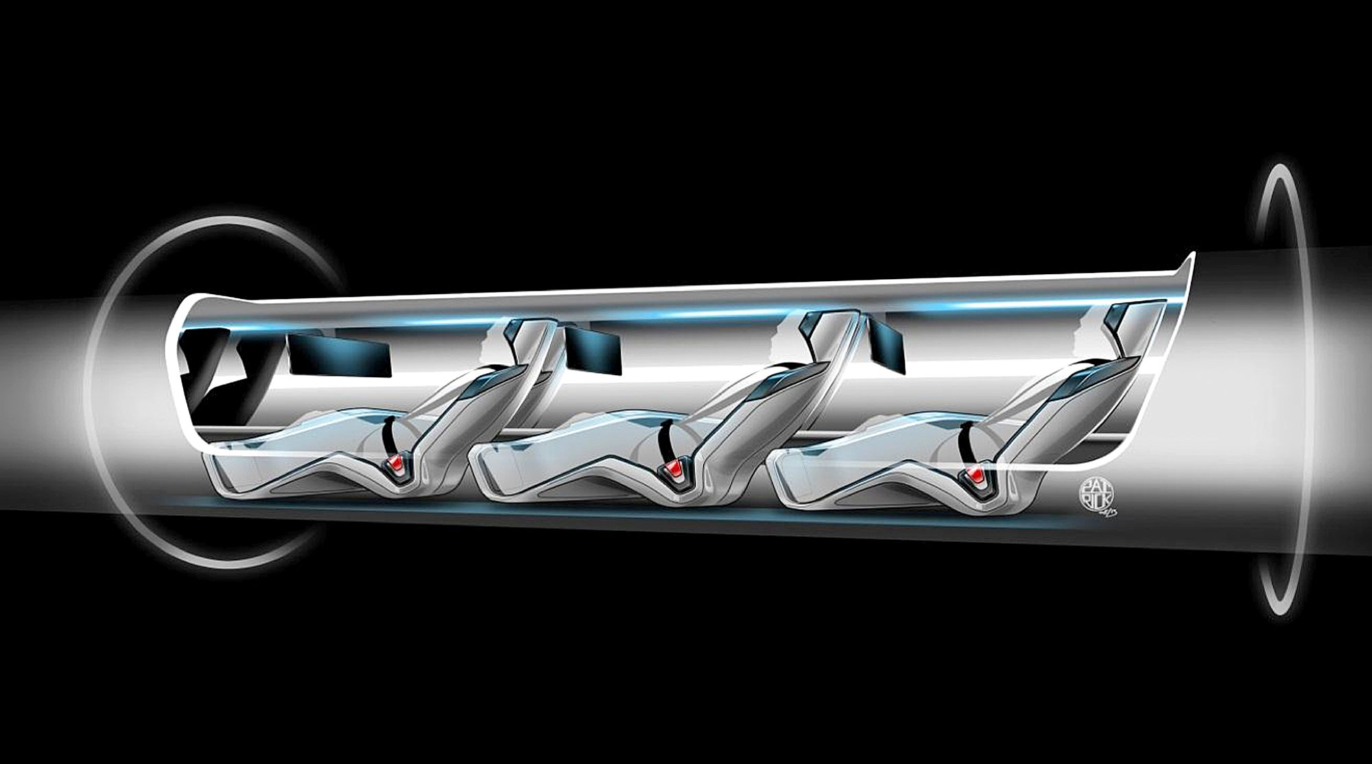 Tesla CEO Elon Musk present Hyperloop transport system project