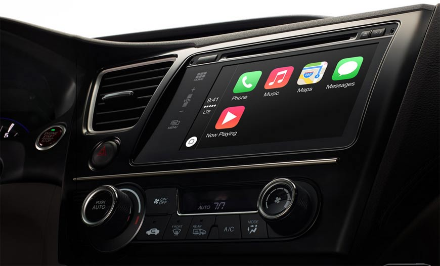 Apple CarPlay is puttin the iPhone on four wheels