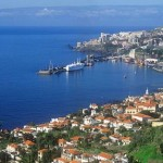 Funchal harbour with cruise ship Madeira Portugal